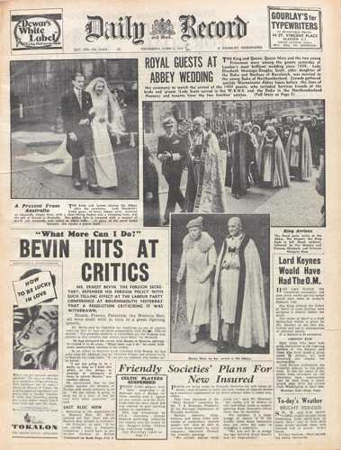 Daily Record 13 June 1946
