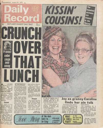 Daily Record 30 August 1978