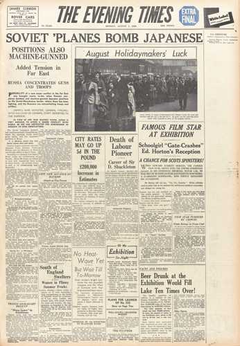 Evening Times 01 August 1938
