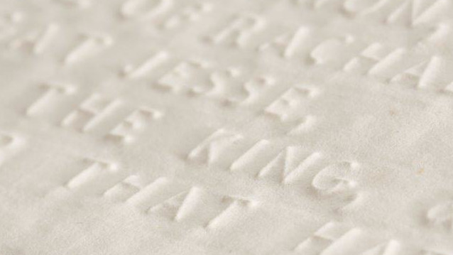 Image of Braille paper from the Alston Collection