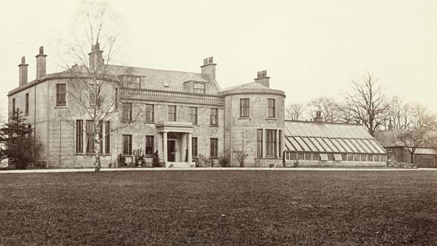 Photograph of Belvidere House, Glasgow taken from The Old Country Houses of the Old Glasgow Belvidere House, Glasgow (Thomas Annan, 1870).