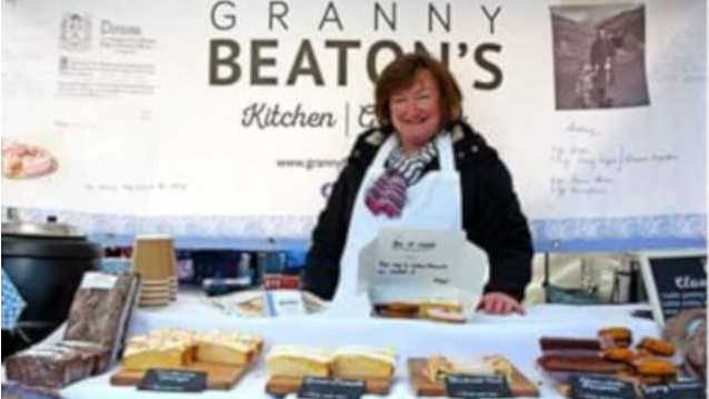 Granny Beaton's market stall with Kirsteen Oliver