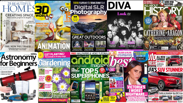 Image showing a selection of magazine covers