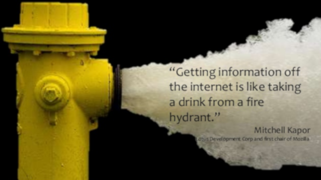 image of gushing fire hydrant and quote