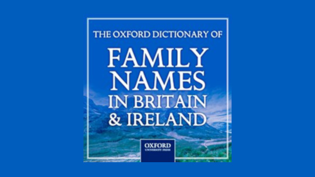 Oxford Dictionary of Family Names in Britain and Ireland logo