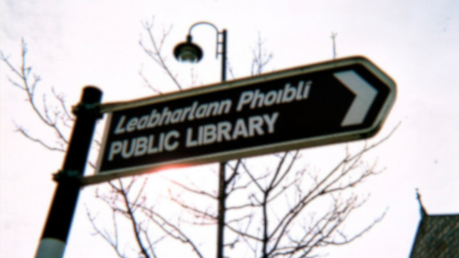 Gaelic Library sign