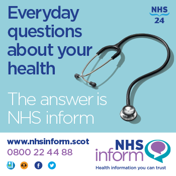 NHS inform square info panel