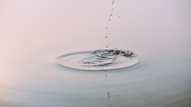 splash and ripples on water