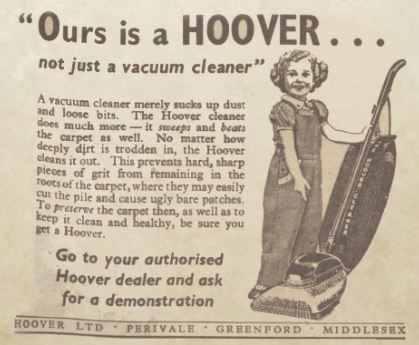 Hoover ad Sunday Post