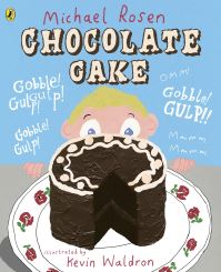 Chocolate cake, Illustrated by Kevin Waldron