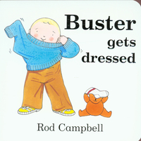 Buster gets dressed
