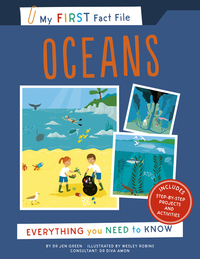 Oceans, everything you need to know, Illustrated by Wesley Robins
